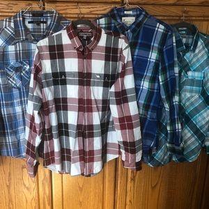 Lot of Four Men's Button Down Shirts